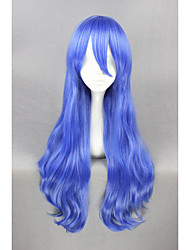 cheap -Long Curly DATE A LIVE-Yoshino Blue 28inch Anime Cosplay Wigs CS-188A