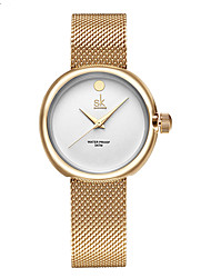 SK Women's Dress Watch Fashion Watch Quartz Water Resistant / Water Proof Shock Resistant Alloy Band Charm Casual Luxury Minimalist Gold