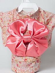 Собаки смокинг Одежда для собак Лето Цветы Милые Свадьба Косплей День рождения Новый год Розовый Черный