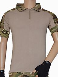 abordables -Homme Femme Unisexe Manches Courtes Tee-Shirt de Chasse Séchage rapide camouflage Tee-shirt Hauts/Top pour Chasse M L XL XXL