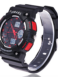 cheap -Men's Sport Watch / Fashion Watch / Dress Watch Large Dial Silicone Band Charm Multi-Colored