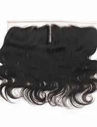 cheap -Lace Front Wig Body Wave Middle Part / 3 Part / Side Part Swiss Lace Remy Human Hair