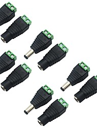 cheap -5 Pack 5.5 X 2.1mm Barrel Power 12V Male to Female DC Power Jack Adapter Connector Plug for CCTV Security Camera LED Strip