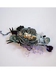 abordables -mousseline de soie flannelette alliage fleurs bandeau classique style féminin