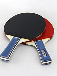 3 Stelle Ping-pong Racchette Ping Pang/Palla di ping-pong Ping Pang Gomma Manopola corta Brufoli 2 Racchetta 3 Palline da ping pong