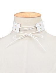 cheap -Women's Choker Necklace Statement Necklace - Personalized Statement Euramerican Fashion Adjustable European Single Strand Circle