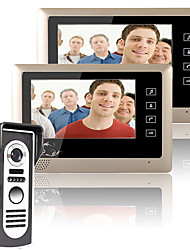 cheap -MOUNTAINONE 7 Inch Video Door Phone Doorbell Intercom System  Kit 1-Camera 2-Monitors Night Vision