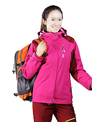 Women's 3-in-1 Jackets Waterproof Thermal / Warm Windproof Dust Proof Breathable Double Sliders Winter Jacket 3-in-1 Jacket Top for