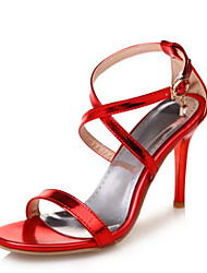 Da donna Sandali Innovativo Club Shoes Vernice Materiali personalizzati Estate Matrimonio Formale Serata e festa Con diamantini FibbiaA