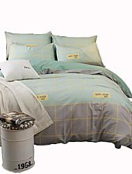 Недорогие -Yuxin®cotton простая сделка 4-х слойный саржевый активный комплект для печати комплект постельных принадлежностей