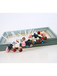 abordables -resina resina plumas tiaras diademas flores estilo elegante