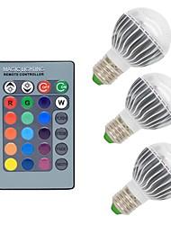 cheap -3W E26/E27 LED Globe Bulbs G50 1 COB 300 lm RGB K Dimmable Remote-Controlled Decorative AC 85-265 V