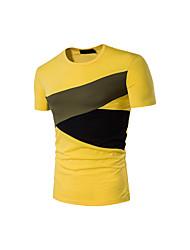 cheap -Men's Cotton T-shirt Print Shirt Collar