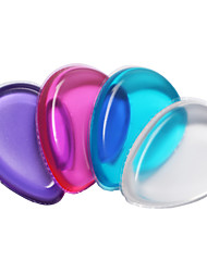 cheap -1PC Transparent The Silicone Puff makeup Don't Eat Meal Wash A Face Robot 4 Color Random