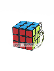Rubik's Cube Smooth Speed Cube Smooth Sticker Adjustable spring Magic Cube Key Chain Square Gift