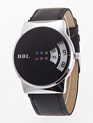 abordables -Hombre Cuarzo Reloj de Pulsera Reloj Deportivo Chino Gran venta Cuero Auténtico Banda Encanto Creativo Casual Reloj de Vestir Moda