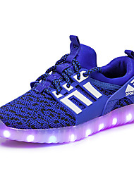 Da ragazzo scarpe da ginnastica Comoda Innovativo Scarpe luminose A rete Autunno Inverno Sportivo Casual Lacci Piatto Nero Verde Blu
