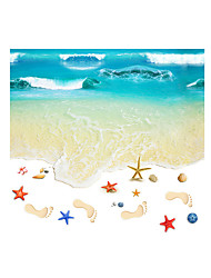 cheap -3D Wall Stickers Wall Decals Style Beautiful Beach PVC Wall Stickers