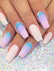 8pcs trekant hvid manicure svamp nail art stamper stempling svamp gradient farve DIY værktøjer til nail design