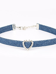 cheap -Women's Crystal Choker Necklace - Heart Personalized, Unique Design Light Blue Necklace For Birthday, Thank You, Engagement