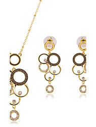 cheap -Women's Rhinestone Jewelry Set 1 Pair of Earrings / Necklace - Basic Gold Bridal Jewelry Sets For Party / Women's / Rhinestone / Necklace