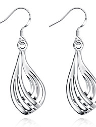 cheap -Women's Girls' Crystal Silver Plated Dangle Earrings - Geometric Geometric For Wedding Party Daily Casual