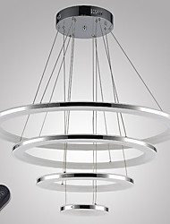 Dimmable LED Ring Ceiling Chandeliers Acrylic Pendant Light Indoor Deco Lamps Fixtures with 4 Rings 76W CE FCC ROHS