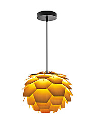 E14/E27 A-01LModern LightsLayered Wood Artichoke Ceiling Pendant Light Pendant Lampshade