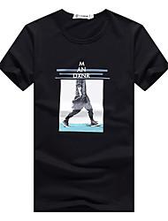 Summer men's short-sleeved t-shirt cotton Slim teen summer clothes Korean men's short-sleeve base