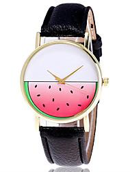 Damen Modeuhr Armbanduhr Quartz Leder Band Cool Bequem Kreativ Schwarz Weiß Grau Weiß Schwarz Grau