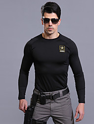 Men's Hiking T-shirt Thermal / Warm Quick Dry Windproof Sweat-wicking for Climbing Summer 120 130 110-acacia