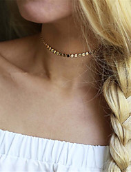 cheap -Women's Single Strand Personalized Fashion Euramerican Choker Necklace Jewelry Copper Choker Necklace , Party Special Occasion Daily