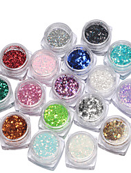 baratos -17box Purpurina arte de unha Manicure e pedicure Diário Glitters / Fashion