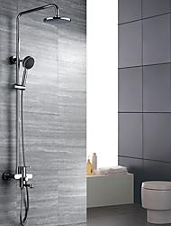 billige -Brusehaner - Art Deco / Retro Krom Vægmonteret Keramik Ventil / Messing / To Håndtag tre huller