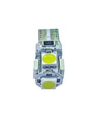 cheap -10Pcs T10 5*5050 SMD Tabula Rasa Decoding LED Car Light Bulb White Light DC12V
