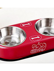 Dog Feeders Pet Bowls & Feeding Beige Red