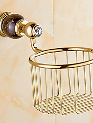 cheap -Toilet Paper Holder Contemporary Brass 13.5CM Toilet Paper Holder Wall Mounted
