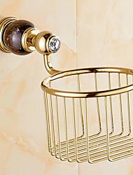 Porta rotolo di carta igienica / Oro Contemporaneo