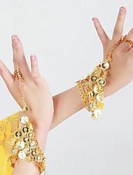Недорогие -Танец живота Танцевальные перчатки Жен. Выступление Металл Пайетки браслеты