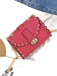 economico -Donna Sacchetti PU (Poliuretano) Borsa a tracolla Borchie per Serata/evento Casual Estate Verde Nero Rosso Rosa pallido Lilla