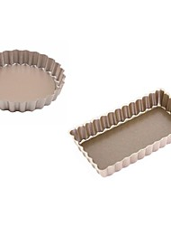 Two pieces set 4 inch Mini round &rectangle cake pan non  stick removable bottom cake mould food grade carbon steel FDA