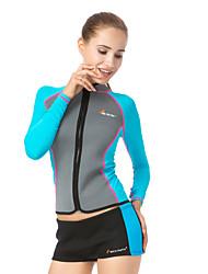 Sportivo Per donna Per uomo Dive Skins Traspirante Asciugatura rapida Resistente ai raggi UV LYCRA® Scafandro Maniche lunghe Top-