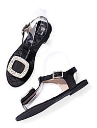 Недорогие -Для женщин Обувь Полиуретан Лето Босоножки Сандалии Назначение Повседневные Черный Синий