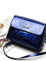 Women Patent Leather Casual Shoulder Bag Wine Coffee Black Blue