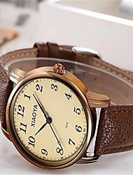 Women's Fashion Watch Quartz Leather Band Brown