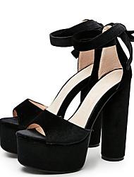 economico -Da donna-Sandali-Formale Serata e festa-Club Shoes-Quadrato-Velluto-