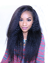 cheap -Kinky Straight Brazilian 360 Lace Frontal Wig with Baby Hair 180% Density Pre Plucked 360 Lace Wigs for African Americans Natural Hairline 8''-22''Wig