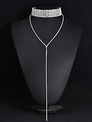 cheap -Women's Choker Necklace / Y Necklace - Dangling Style Silver Necklace For Wedding, Party, Anniversary / Business / Engagement / Daily / Valentine