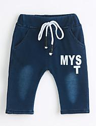 billige -Baby Drenge Ensfarvet Bomuld Jeans