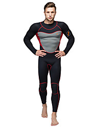 Per uomo Tenere al caldo Resistente ai raggi UV Morbido Nylon Neoprene Scafandro Maniche lunghe Scafandri-Pesca Nuoto Immersioni Surf